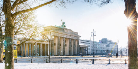 Brandenburg Gate Berlin in Winter