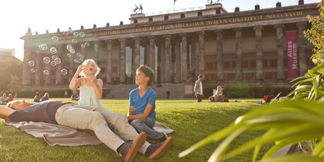 Family in Berlin-Museum Island