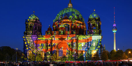 Berlin Cathedral at Festival of Lights