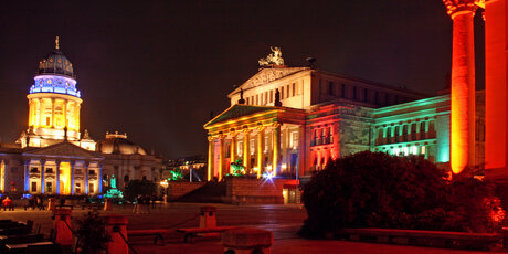 Festival of Lights at Gendarmenmarkt in Berlin