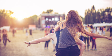 Couple at an Open Air Festival