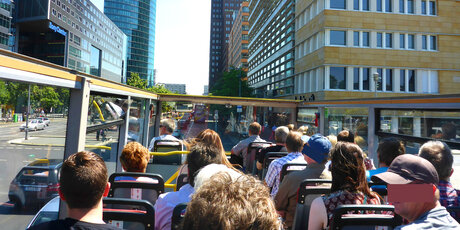 Bustour at Potsdamer Platz in Berlin