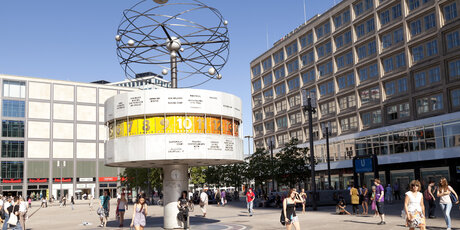 World Time Clock at Alexanderplatz in Berlin