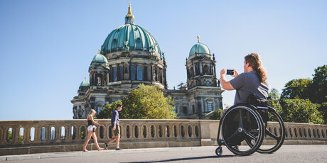 Exploring Berlin with a wheel chair