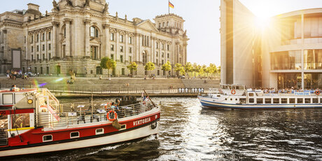 Reichstag and River Spree in Berlin