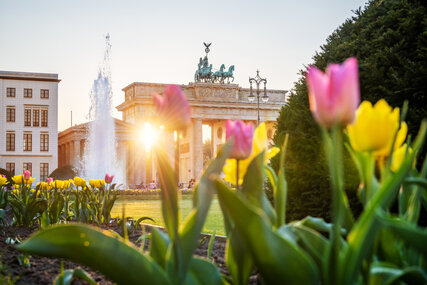 Spring at the Brandenburg Gate in Berlin