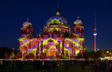 Festival of Lights in Berlin at the Berlin Cathedral