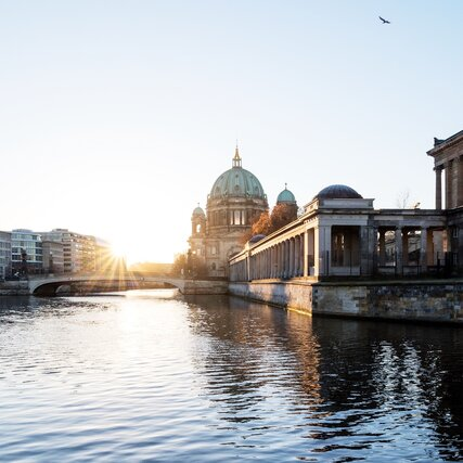 Sight Berlin Cathedral at sunrise