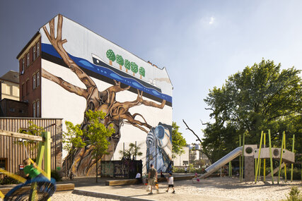 Weltbaum (World Tree) by Ben Wagin at Lehrter Straße in Berlin Moabit