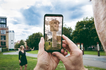 Augmented Reality: Virtual watch tower MauAR-App Berlin