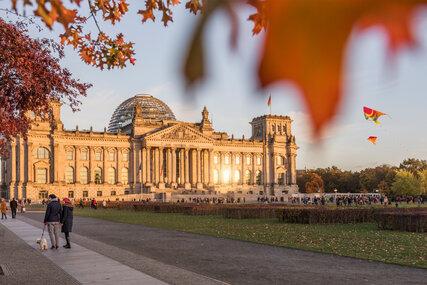 The Berlin Reichstag in autumn