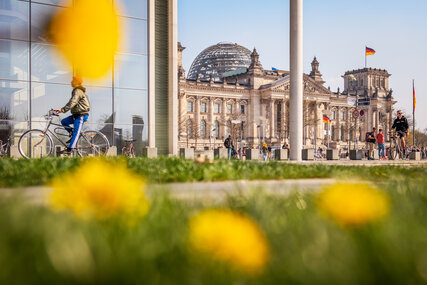 Spring at the Reichstag in Berlin