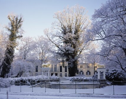 Glienicke Palace in Winter in Berlin