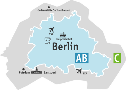 Public transport in Berlin - Fare Zones