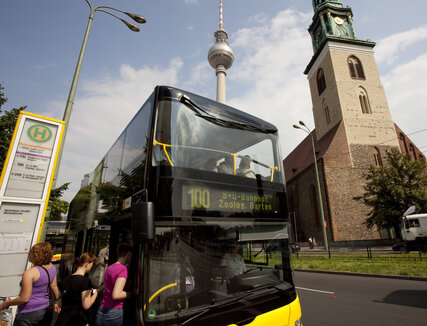 Sightseeing mit dem Bus 100 in Berlin