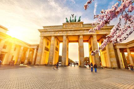 Brandenburg Gate in Berlin in Spring