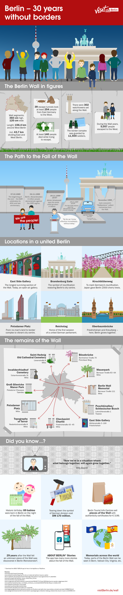 Infographics Berlin Wall & Fall of the Wall