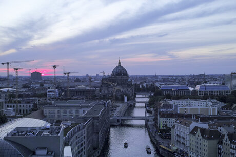 Panorama with Berlin Cathedral in Berlin