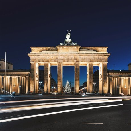 Brandenburger Tor in der Dunkelheit