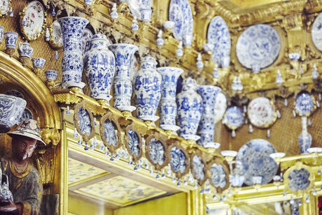 Porcelain cabinet in Charlottenburg Palace in Berlin
