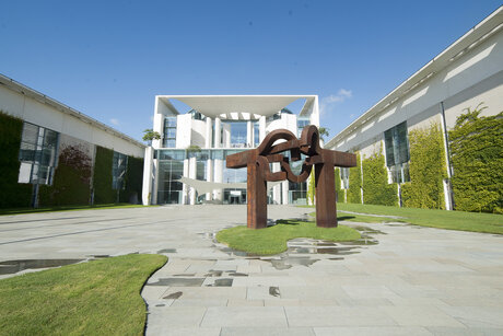 Work of art in front of German Chancellery