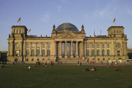 Frontview of the Reichstag in Berlin