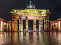 Illuminated Brandenburg Gate in autumn