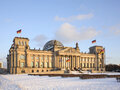 The Reichstag in Berlin in winter