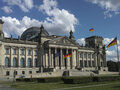 The Reichstag in Berlin in summer