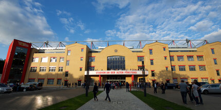 The Stadion an der Alten Försterei in Berlin Köpenick: Football stadium of 1. FC Union Berlin