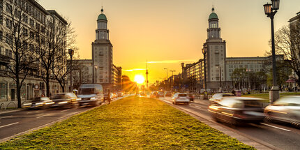 Karl-Marx-Allee sunset