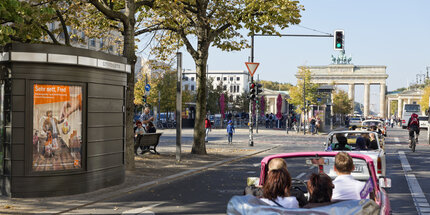 Unter den Linden with Trabi and Brandenburger Tor