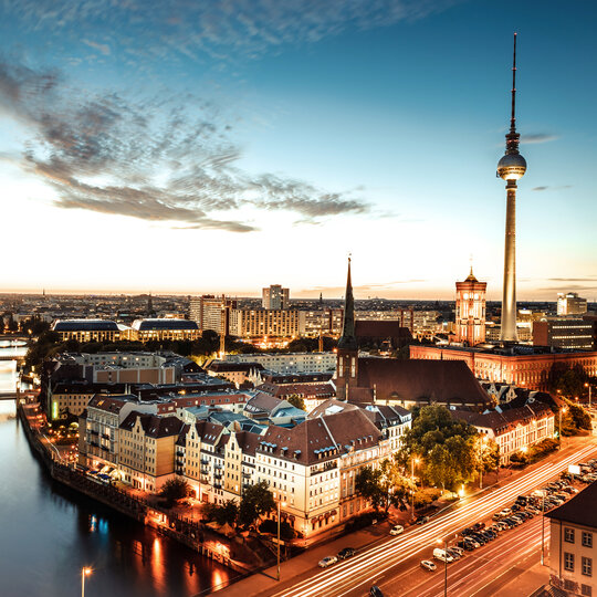 Panoramic view of Berlin-Mitte