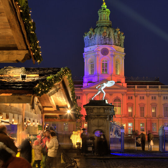 Christmas Market at Charlottenburg Palace in Berlin