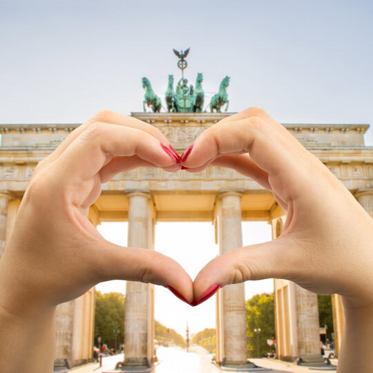 I love Berlin - Brandenburger Tor mit Herz