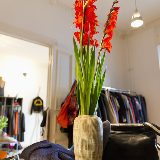 Shop at Prenzlauer Berg with flower as decoration