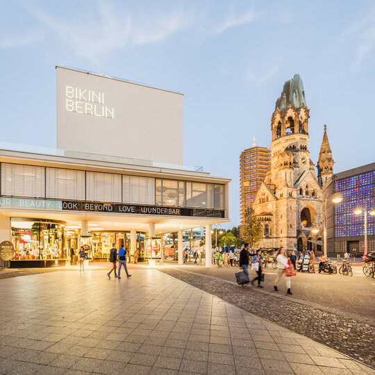 Bikinihaus and Memorial church at Kurfürstendamm in Berlin