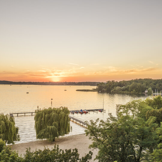 Lake Wannsee in Berlin at sunset