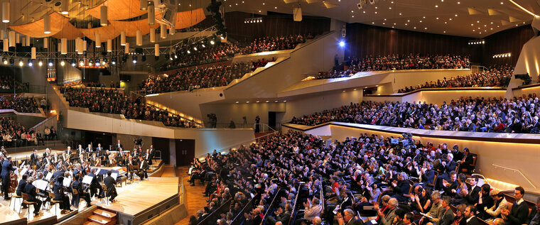 Concert hall of the Philharmonie in Berlin - Concert of the Philharmonic Orchestra with Sir Simon Rattle
