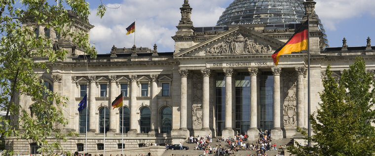 Tour of the Reichstag in Berlin