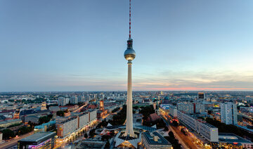 View of the Berlin city centre with the television tower