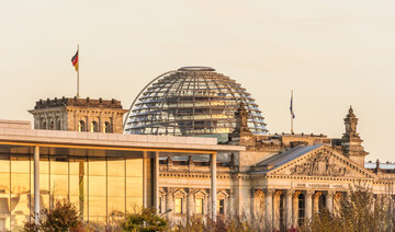 Reichstag in sunset