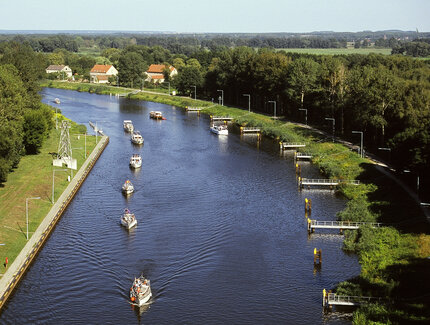 Photo: Finow canal in the Biosphere Reserve Schorfheide-Chorin