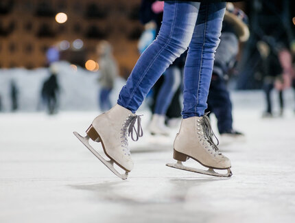 Ice skating in Berlin