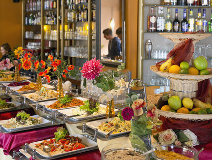 "Buffet in the ""Café Xion"" in Berlin"