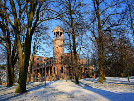 Schloss Biesdorf in Berlin im Winter