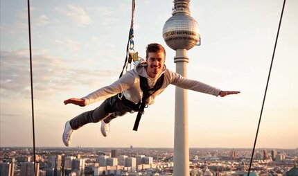 Base Flying from the Park Inn Hotel - a real attraction in Berlin
