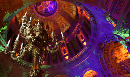 Festival of Lights inside the Berlin Cathedral in Berlin