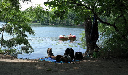Lakes in Berlin: Summer at Schlachtensee