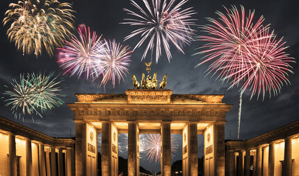Every year the biggest New Years Eve party in Berlin takes place at Brandenburg gate.